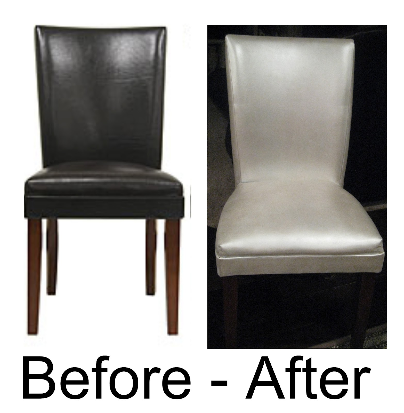 Etonnant Painted Leather/faux Leather Dining Chairs