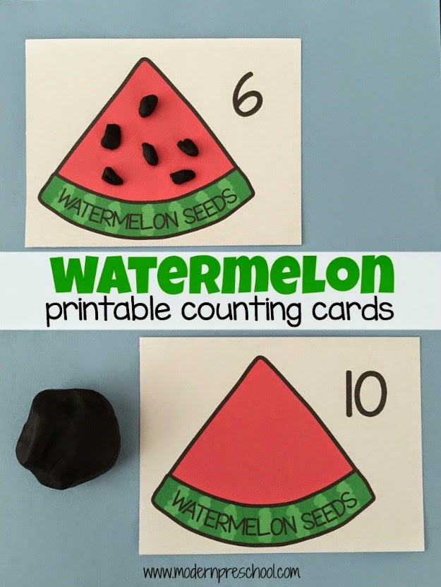 graphic relating to Watermelon Printable named Printable Watermelon Counting Playing cards