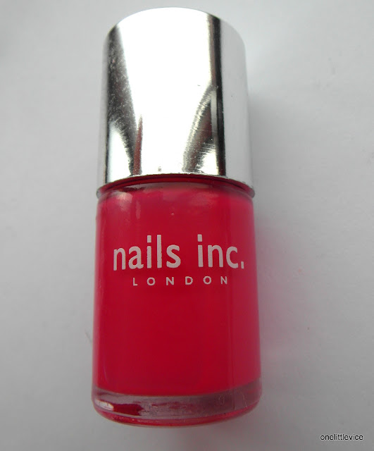 bright pink high quality nail polish review and swatch