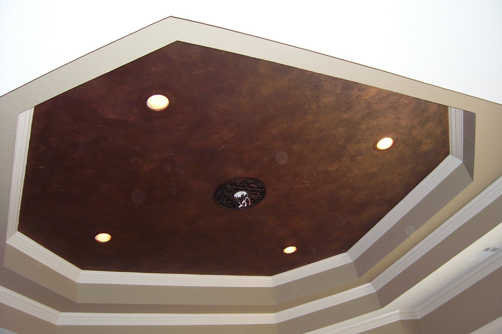 Kitchen with Copper Ceiling