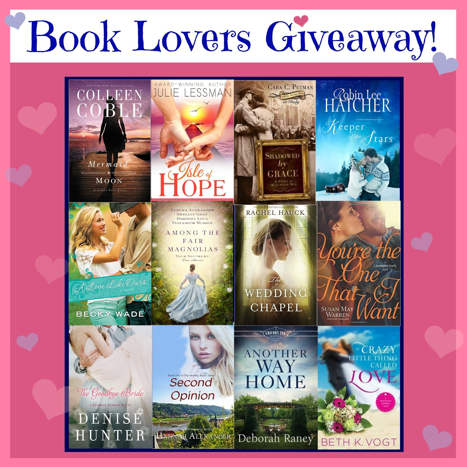 12 Authors' Book Lovers Giveaway thru 2/14