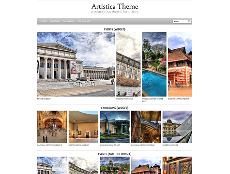 Image for Artistica – Premium Theme by WpZoom