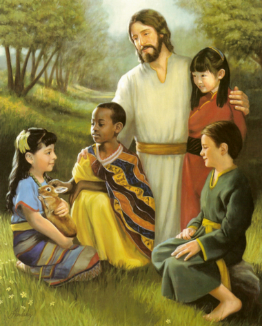paintings of jesus with children. How amazing