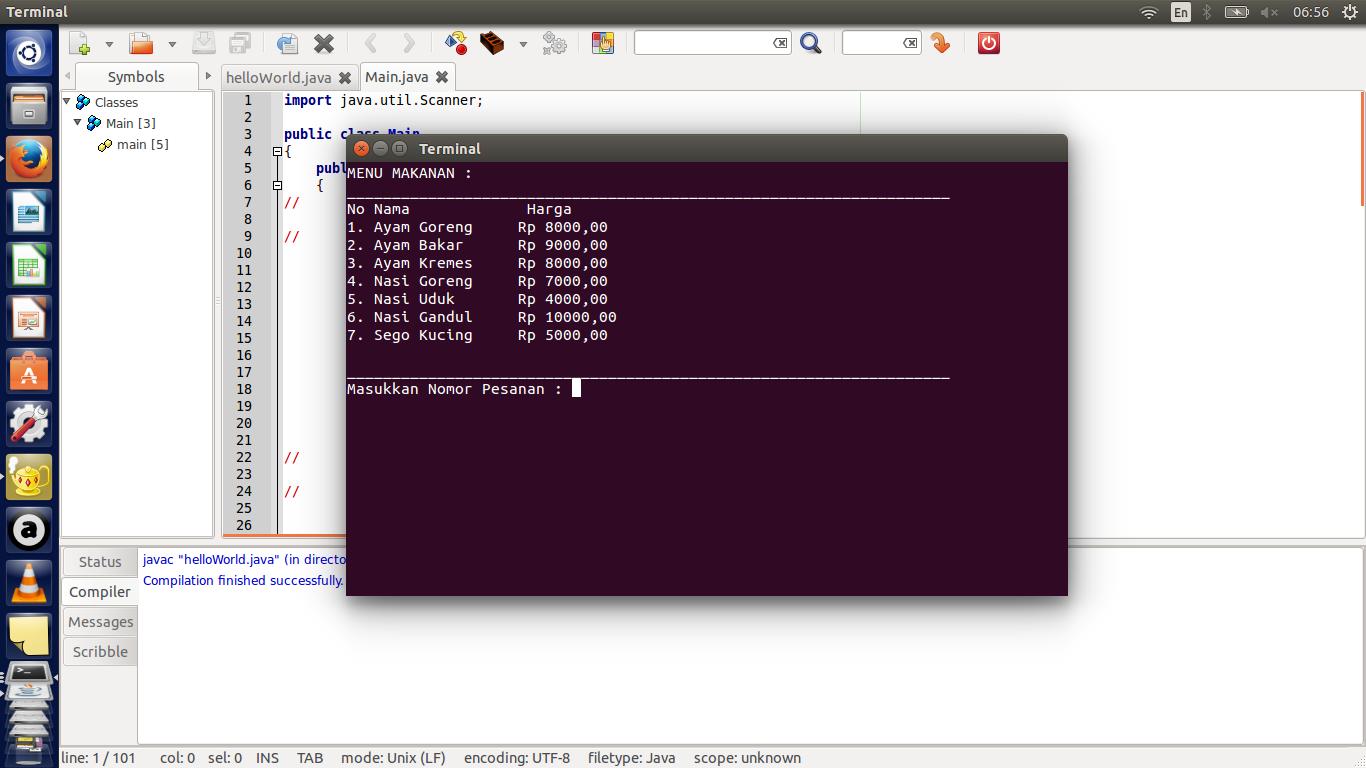 pemrograman berorientasi objek  program kasir sederhana