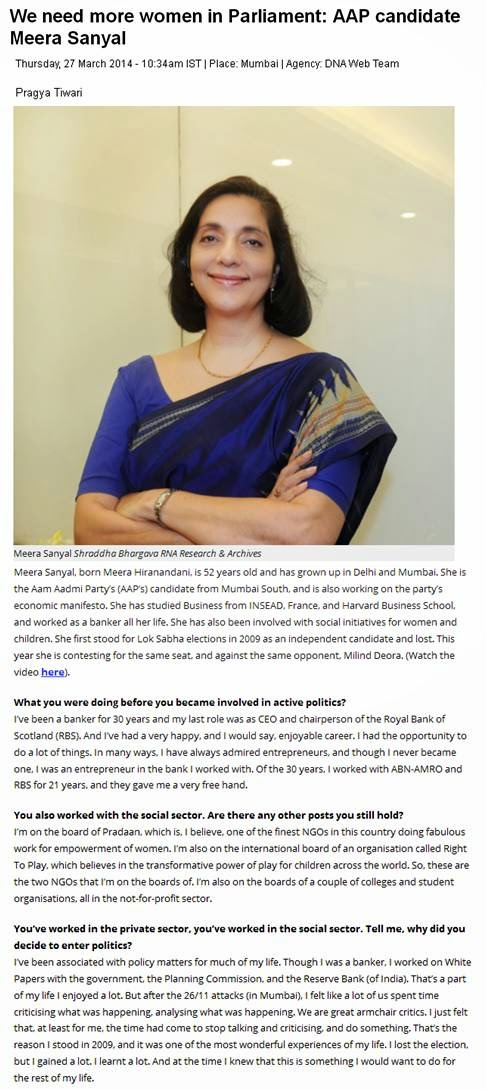 http://www.dnaindia.com/analysis/interview-we-need-more-women-in-parliament-aap-candidate-meera-sanyal-1972588