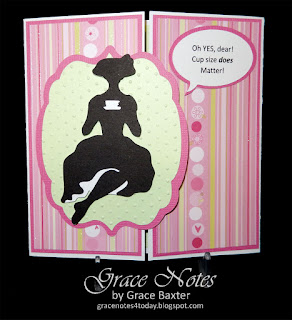 humorous feminine b-day card, by Grace Baxter