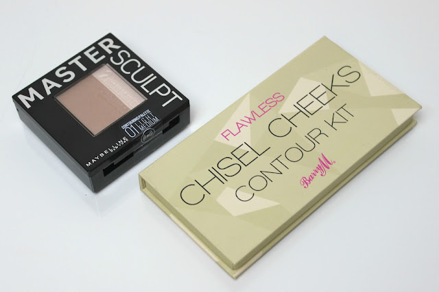 A picture of Maybelline Master Sculpt in Light/Medium and Barry M Chisel Cheeks Contour Kit