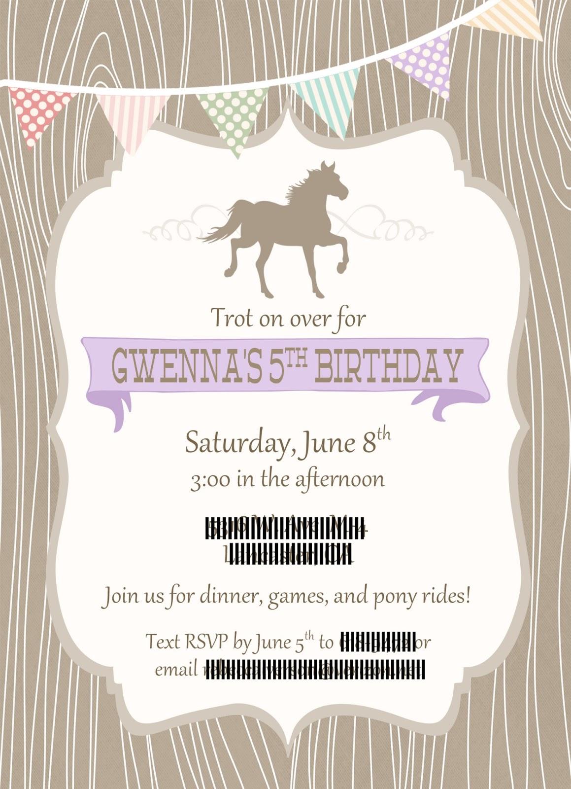 Desert Girls Vintage: Gwenna\'s Pony Party