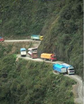North Yungas Road Known as Death Road