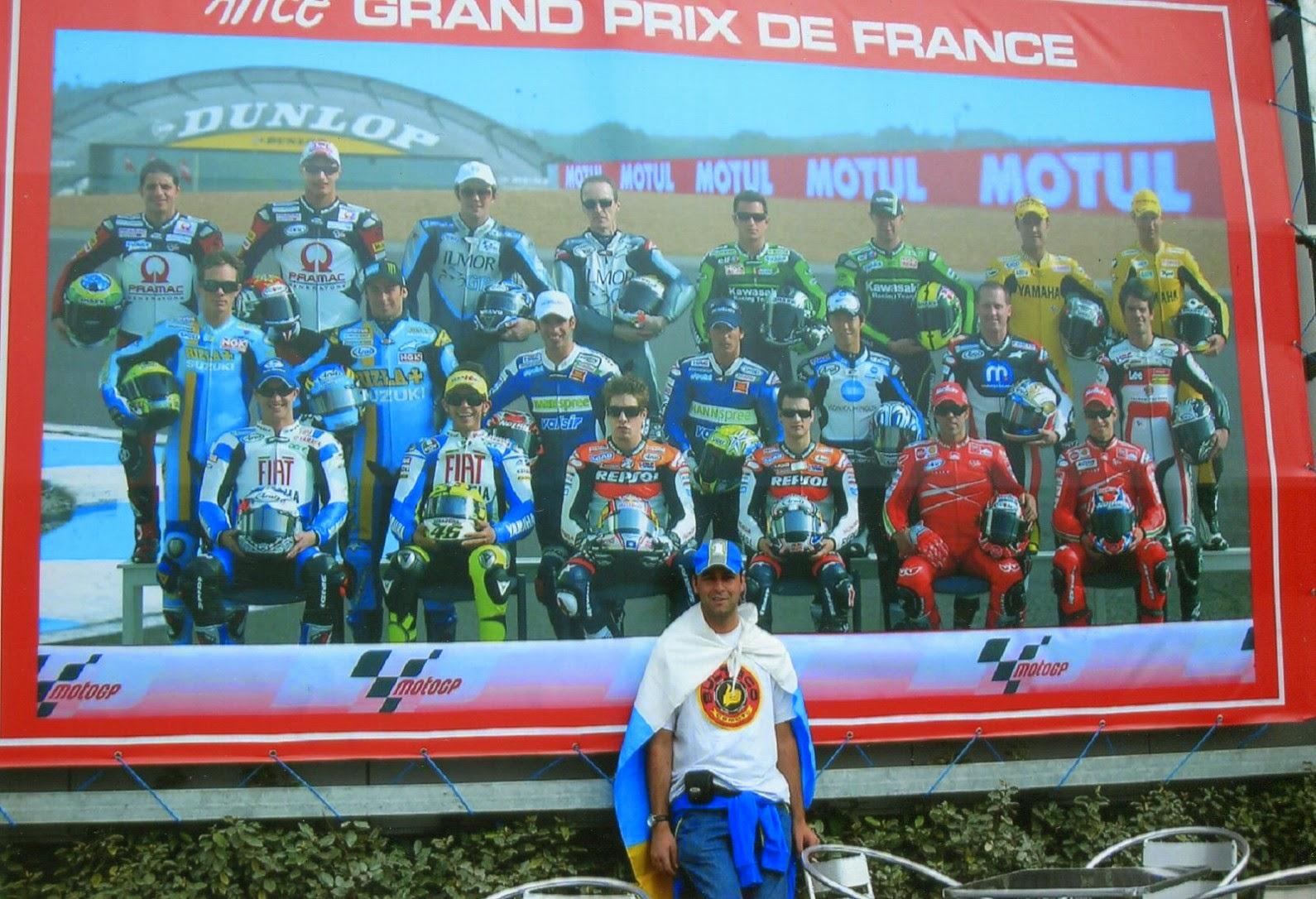 Mural de pilotos en el circuito de Le Mans