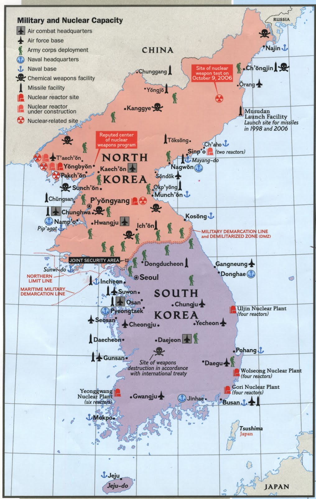 maps of north korean nuclear capacity available from ball state university libraries