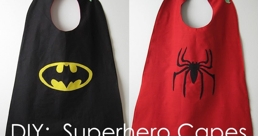 My handmade home tutorial diy superhero capes pronofoot35fo Image collections