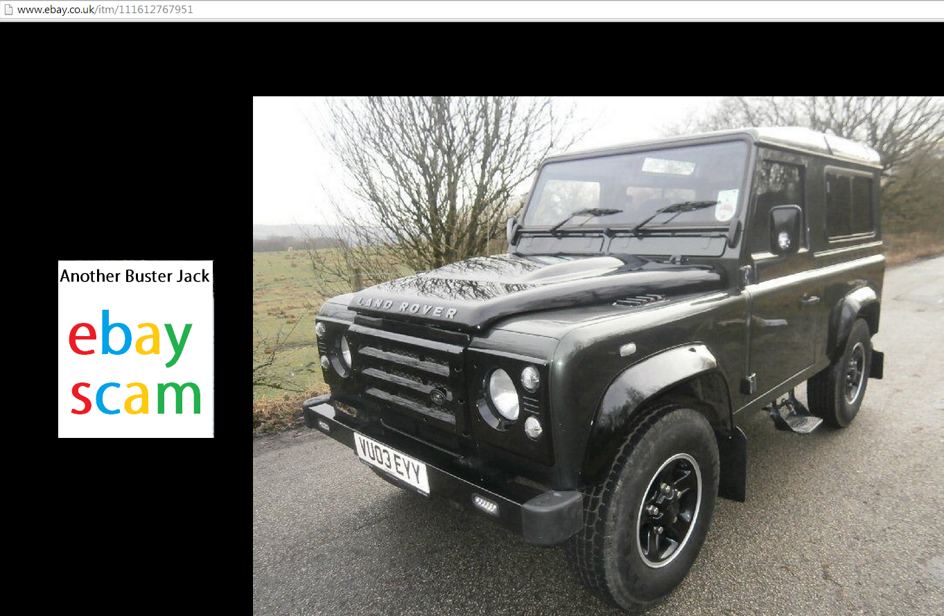 EBAY SCAM : 2003 Land Rover Defender 90 Td5 VU03EYY FRAUD EY03 EYY