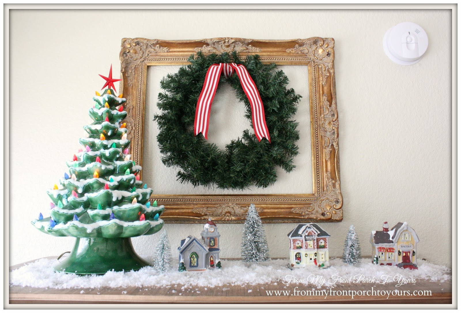 Vintage Ceramic Christmas Tree-French Farmhouse Christmas Kitchen- From My Front Porch To Yours