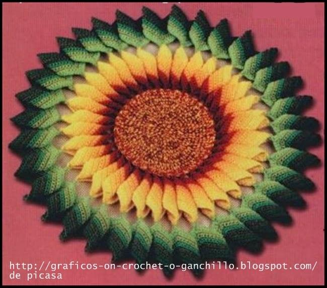 crochet fabric , CROCHET - GANCHILLO - PATRONES - GRAFICOS: GIRASOL ...