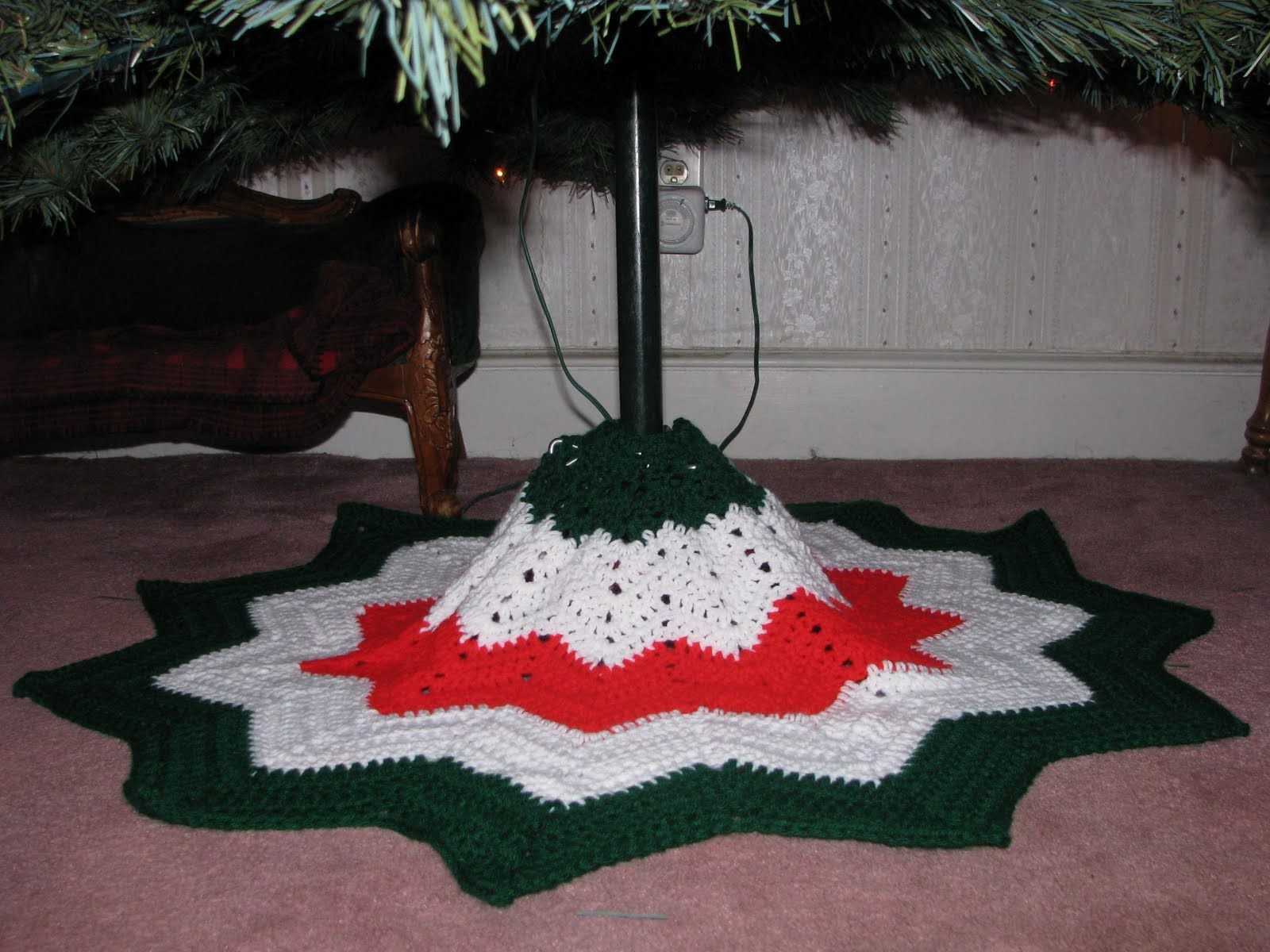 Craft Attic Resources Tree Skirt Is Finished