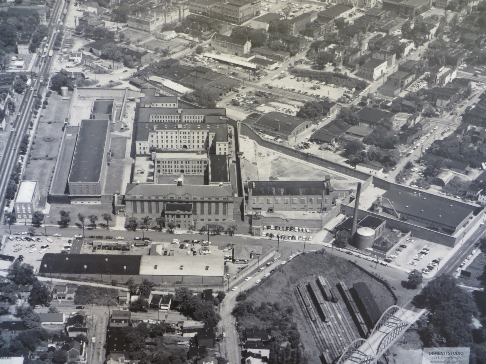 An Arial View Of The Virginia State Penitentiaryplex Located Along  Spring Street At The Intersection Of South Second Street
