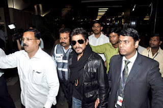 Shahrukh Khan snapped returning from London