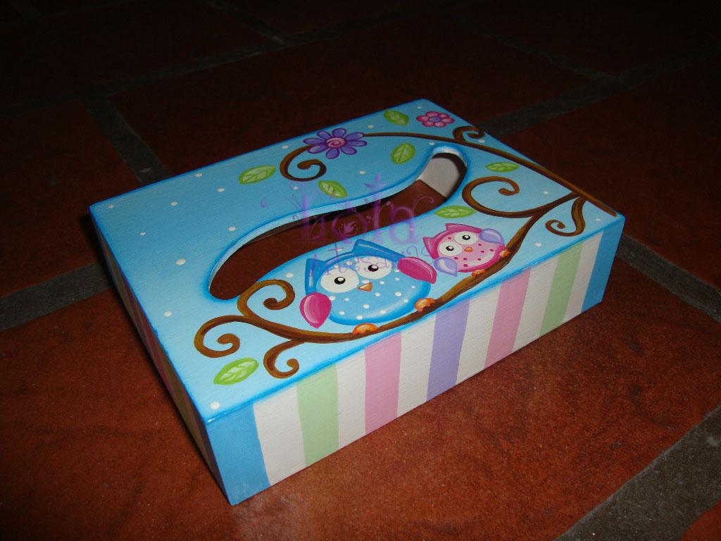 Lola Artesanías: Portapañuelos con lechuzas