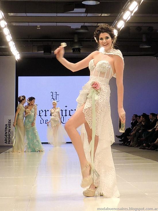 Veronica de la Canal vestidos de fiesta verano 2015. Semana de la Moda primavera verano 2015.