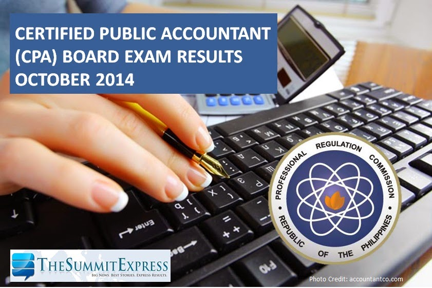 List of Passers: CPA board exam results October 2014