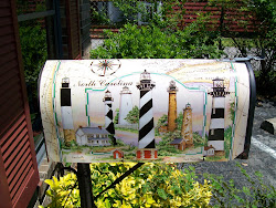 Mailbox decorated with Lighthouses on the North Carolina Outer Banks