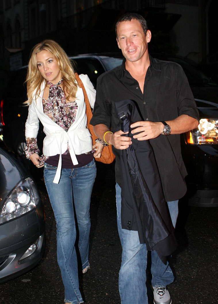 lance armstrong with wife lance armstrong cyclist lance armstrong    Kate Hudson And Lance Armstrong