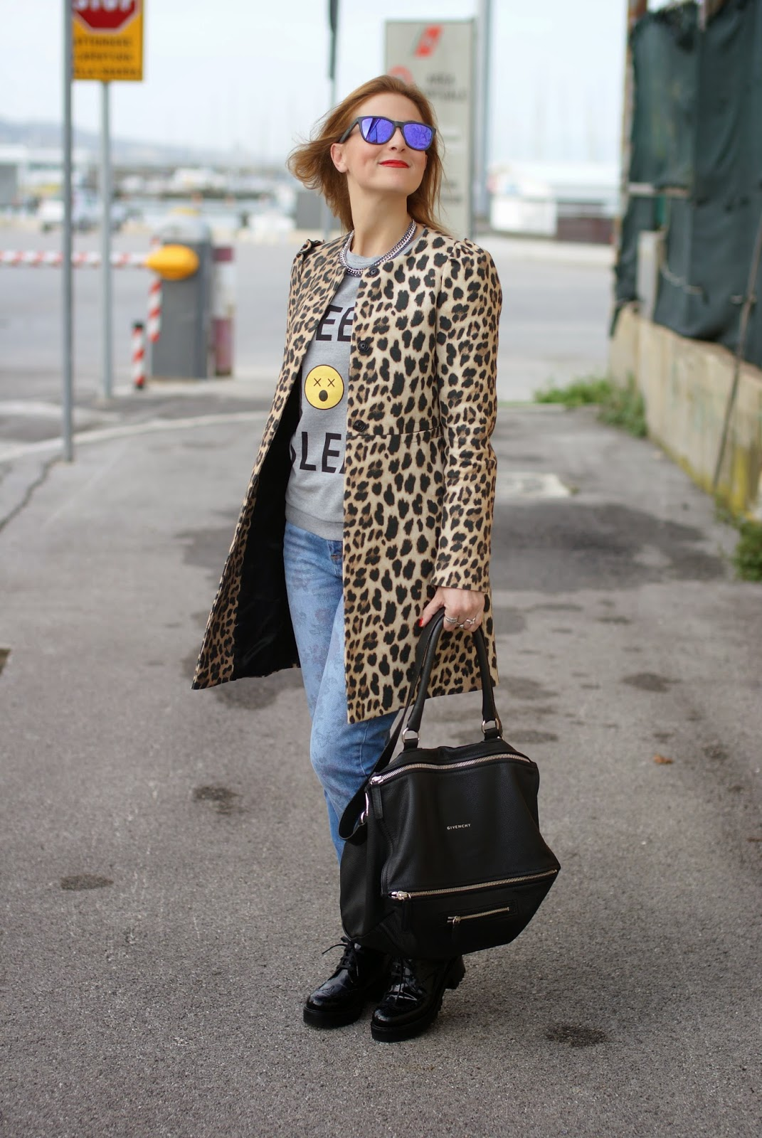 Zara leopard coat, Luca barra gioielli, Givenchy Pandora bag, Daniel Wellington Classic Sheffield watch, Fashion and Cookies, fashion blogger