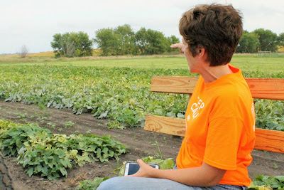 Shannon Latham, owner Enchanted Acres, has 30 varieties of pumpkins