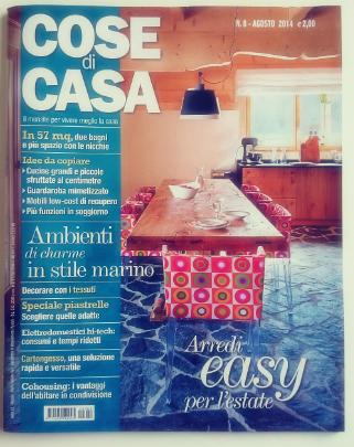 Cose di Casa okładka numeru sierpniowego 2014