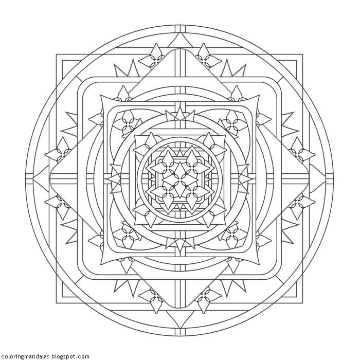 Coloring Mandalas 19 Seal of Insight