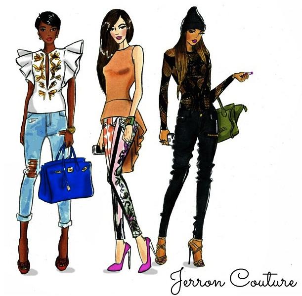 jerron couture fashion design illustration accessories illustration