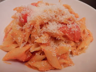 Roasted Pepper and Ricotta Pasta