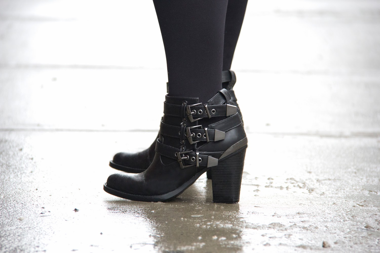 Winter-boots, ankle-shoes, black, comfy