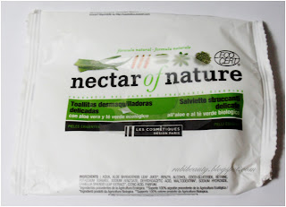 Reseña review toallitas desmaquillantes nectar of nature Carrefour