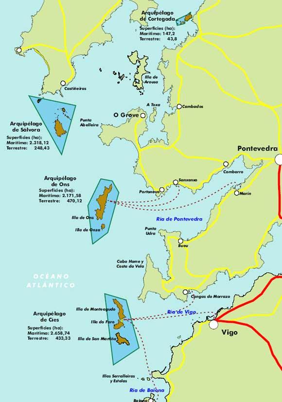 Risultati immagini per islas atlanticas de galicia carta geografica