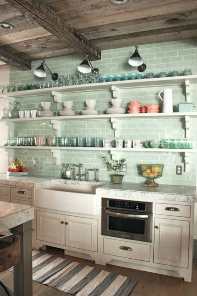 Stranger Than Vintage Interior Design Mint Green Kitchens