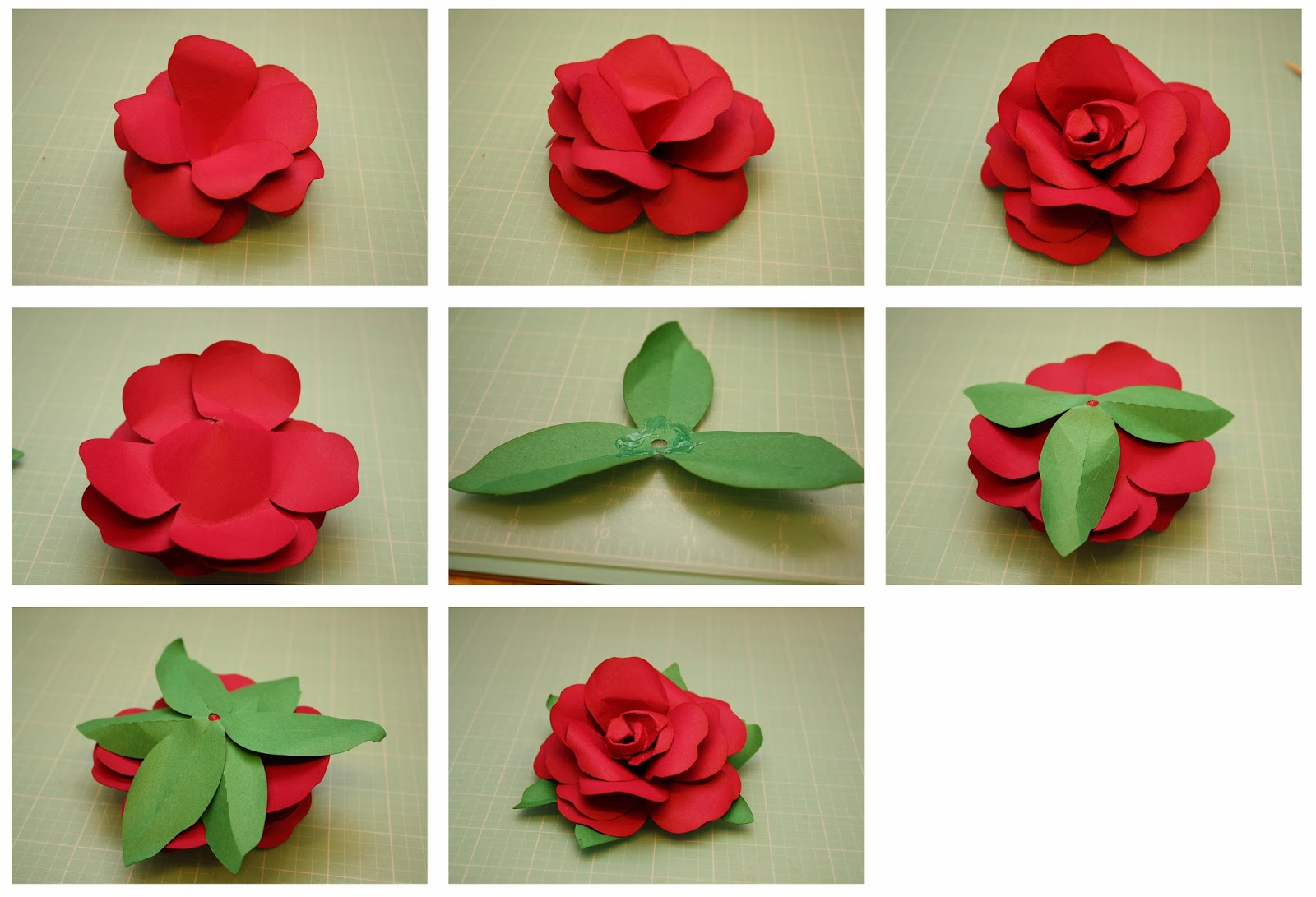 Paper flower 3d yelomdiffusion bits of paper rolled rose and easy to assemble rose 3d paper flowers mightylinksfo