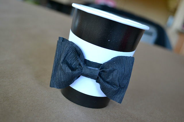 Mommy Testers #JT2020 black and white party decor tuxedo cup for 20/20 Experience Album Release Party #cbias