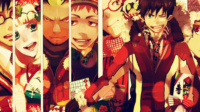 Ao no Exorcist Christmas Present Wallpaper 0002
