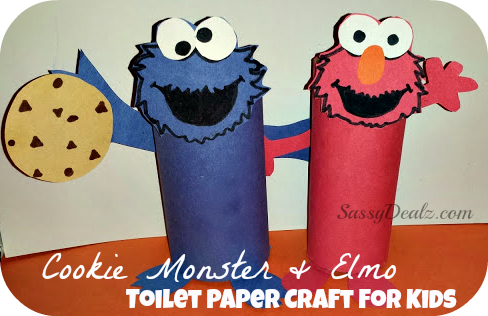 cookie monster and elmo toilet paper roll crafts