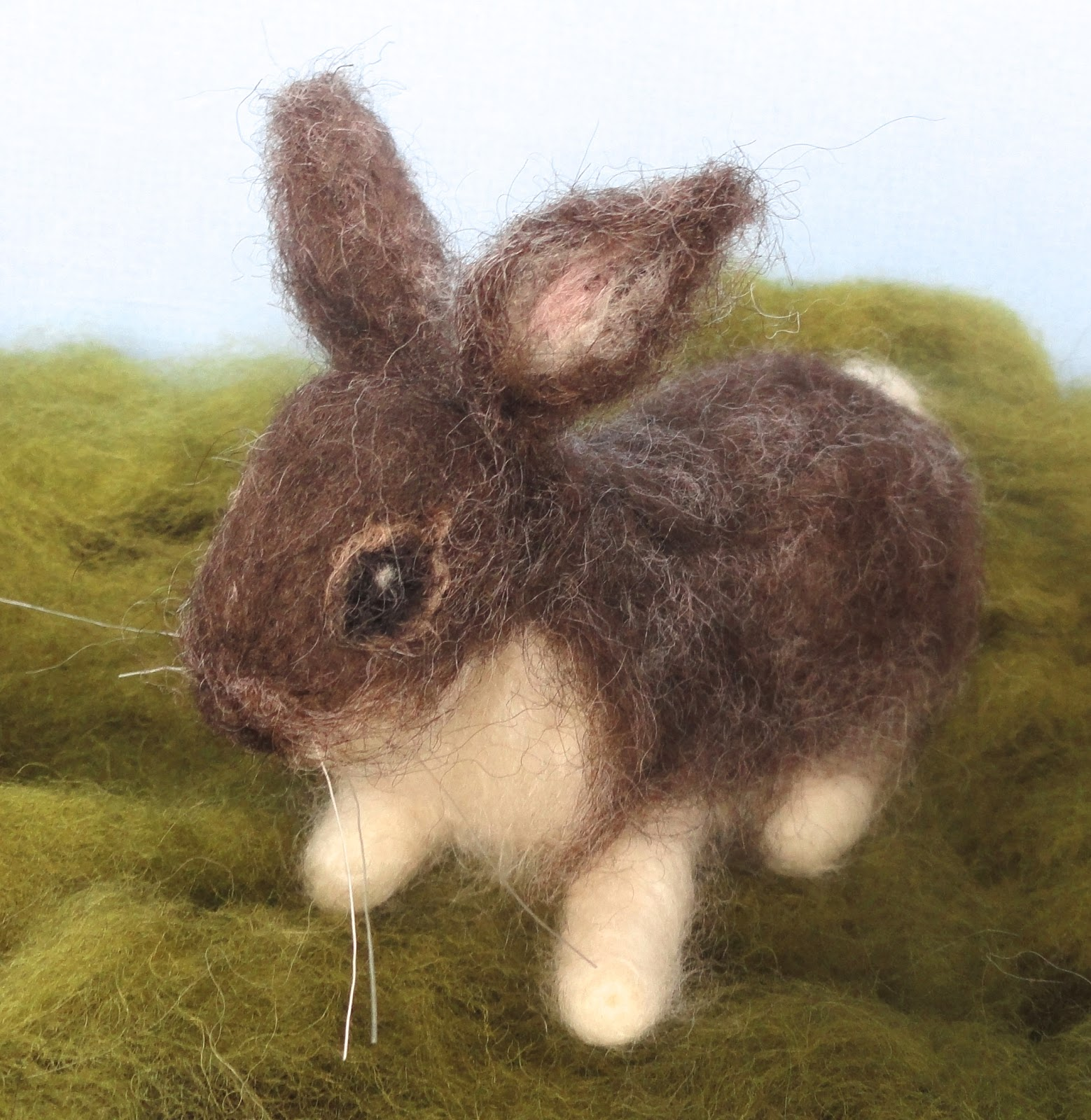 claudia marie felt needle felted for easter spring