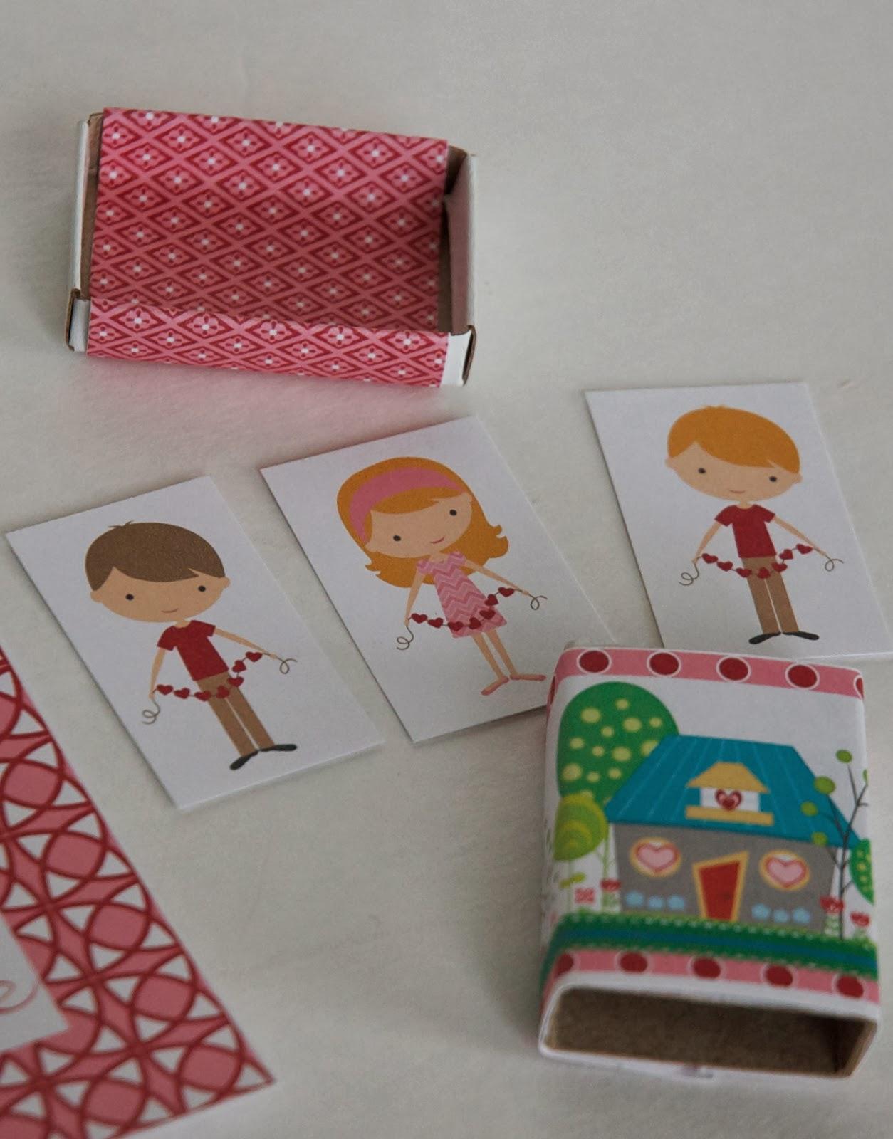 living valentines matchbox wraps