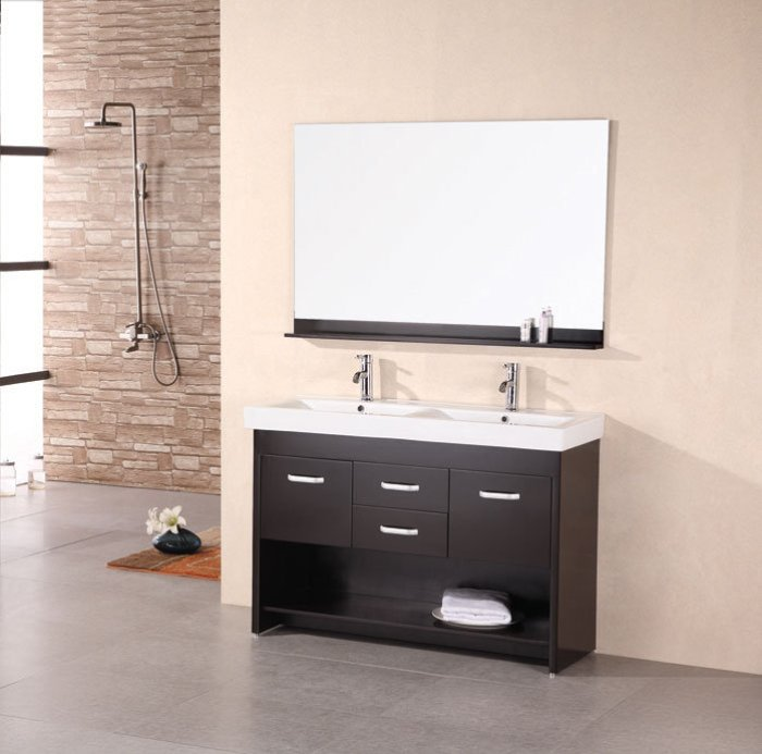 48 inch double sink vanity cabinets and vanities for Double vanity for small bathroom