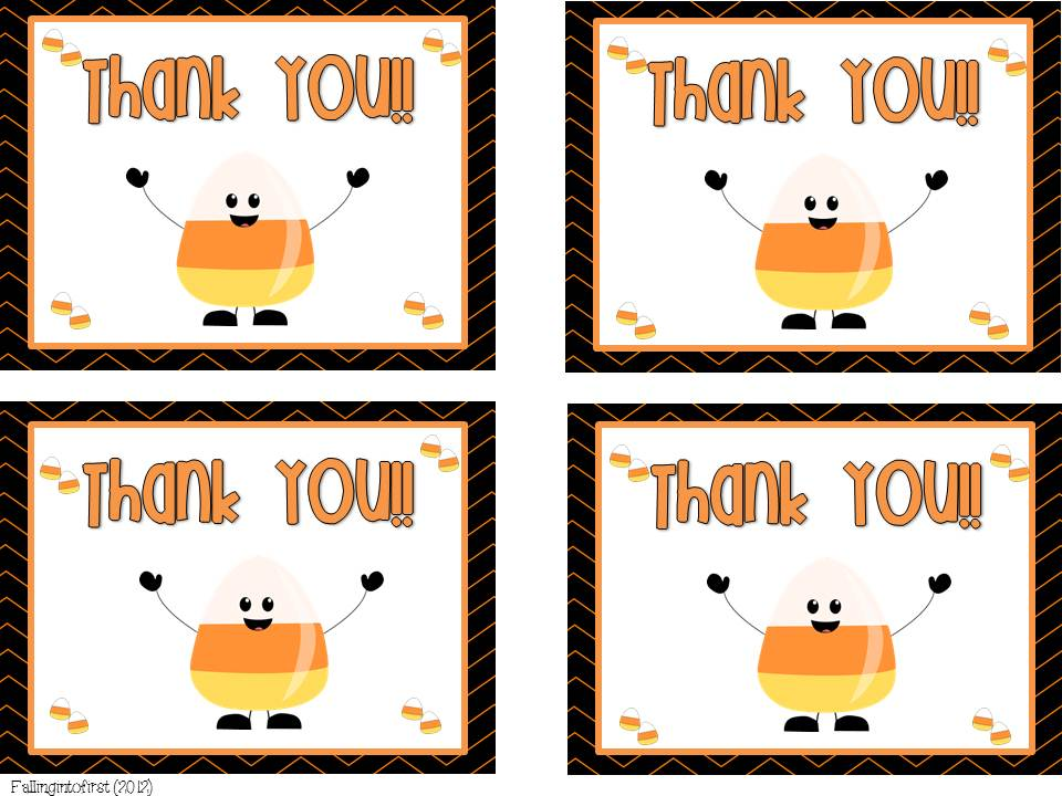 Falling Into First: Halloween Thank You Notes FREEBIE + Guest Blogging