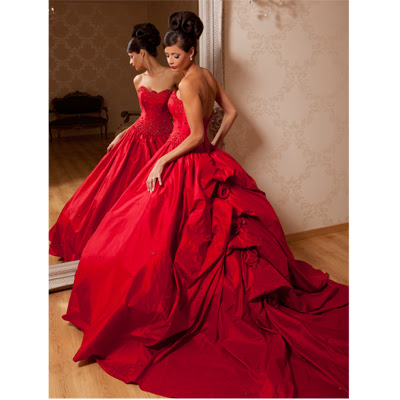 red wedding dress designs in 2012 wedding dress