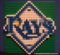 Tampa Bay Rays LEGO Mosaic