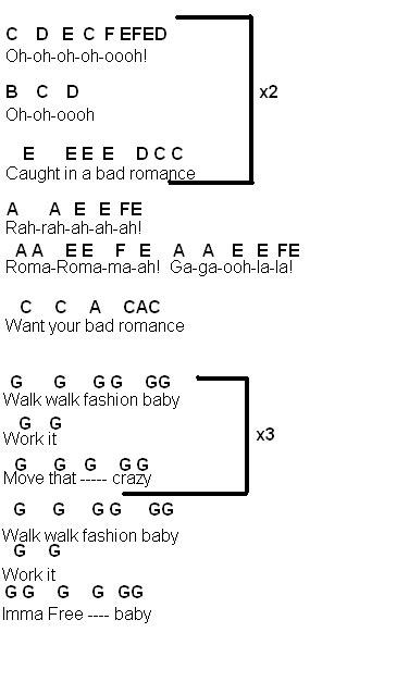 Flute Music Bad Romance By Lady Gaga
