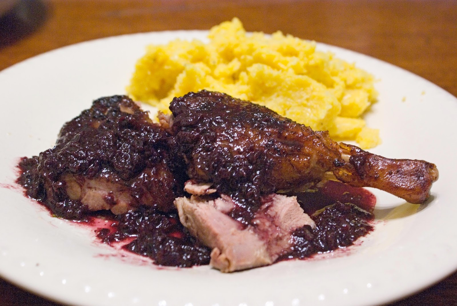 Roast Duck with Sweet Cherry sauce
