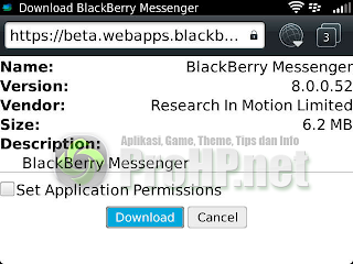 BlackBerry Messenger v8.0.0.52 BETA Download